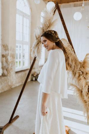 Weiter Braut Pullover Poppy