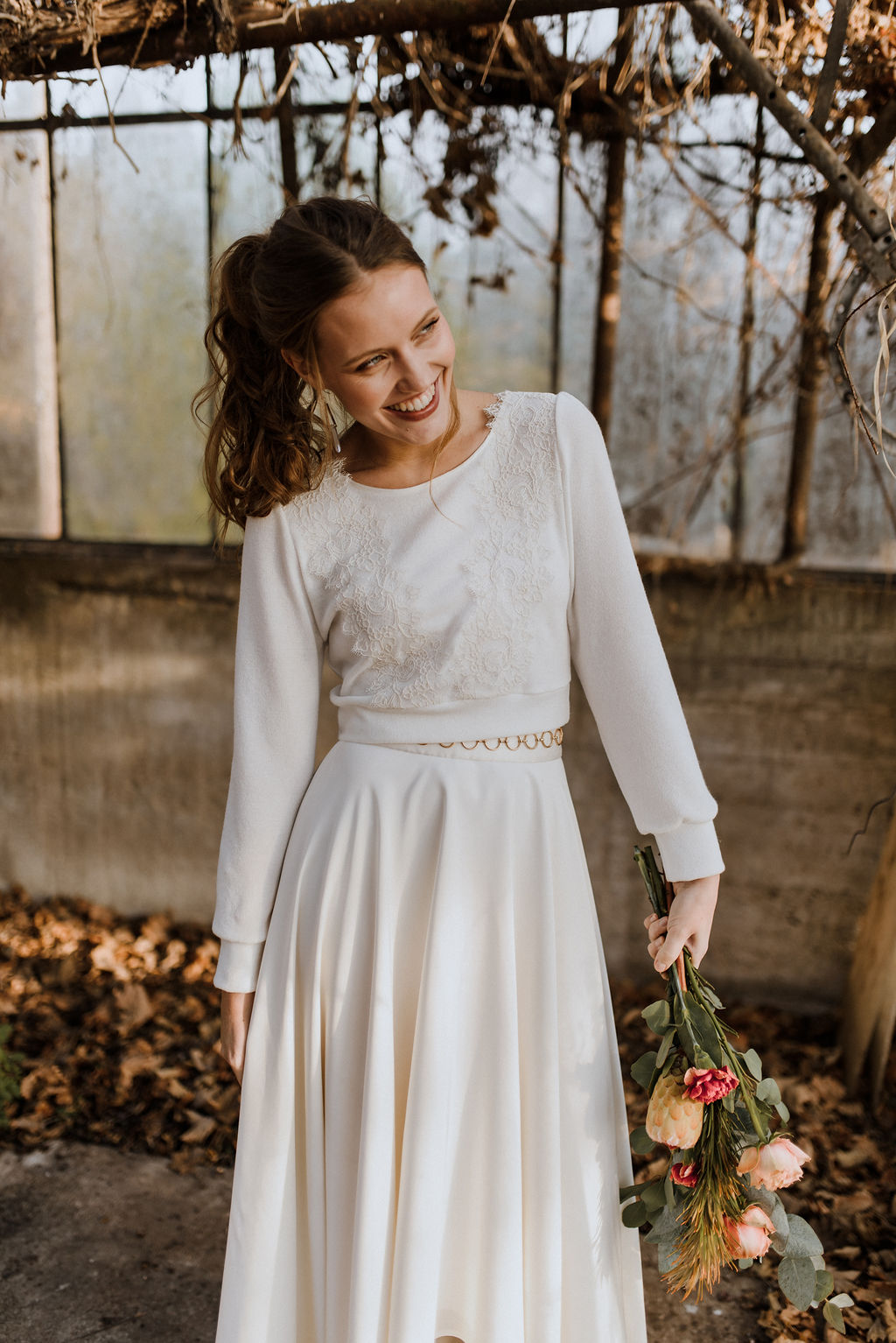 Braut Pullover ivory Sadie
