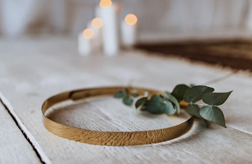 Brautgürtel gold Metall