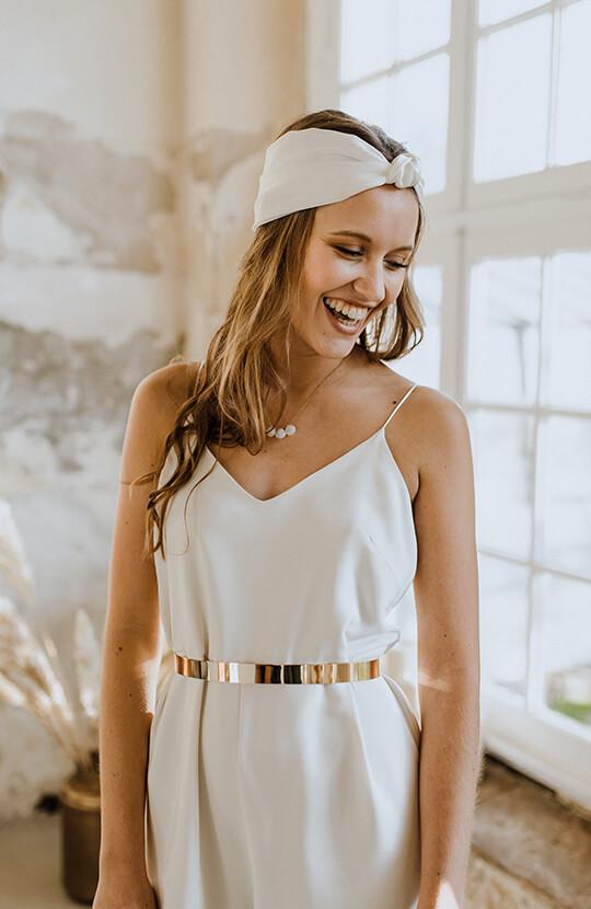 Bridal Turban Pixie Seide