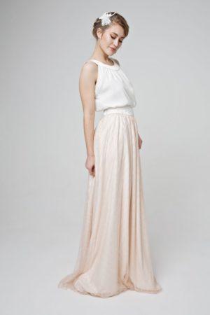 Zweiteiler mit Tüllrock für die Braut